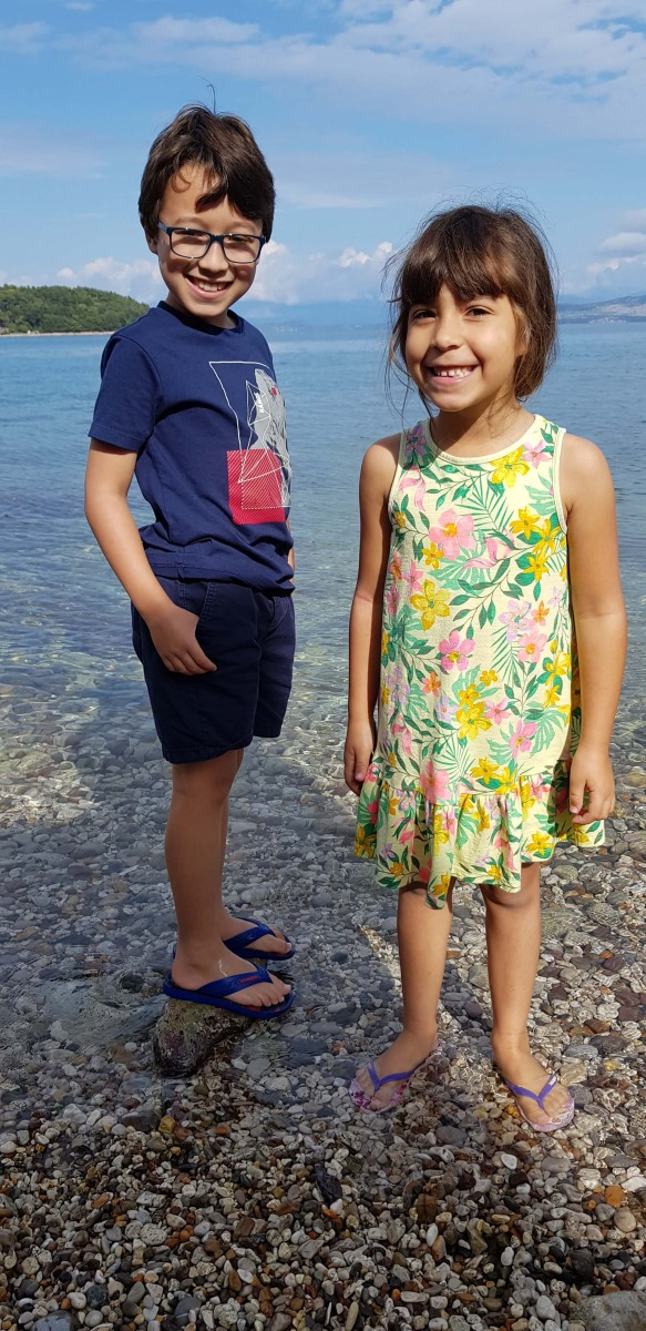 Sophie and Elliot, Corfu