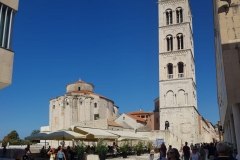 Zadar Forum, cathedral bell tower and church of St Donatus