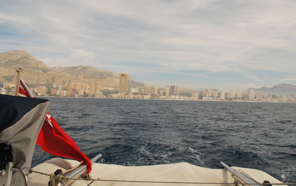Benidorm from the bay