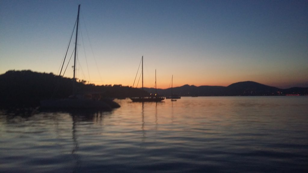 Sunset off St Tropez
