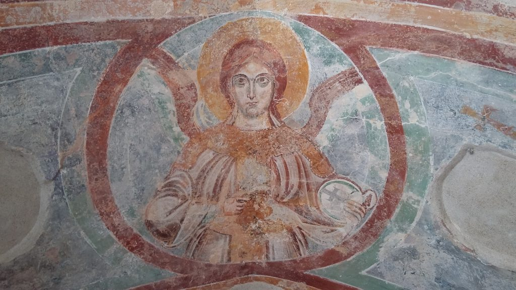 Painted plaster from the Paradise Cloister