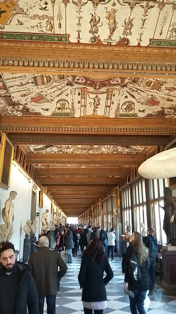 Ufizzi Gallery. Four corridors lined with sculptures.