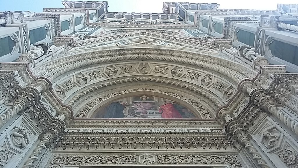 Decoration above main door of the Duomo