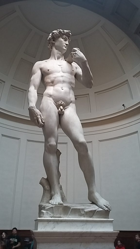 Michelangelo's 'David' - apparently carved from a scrap lump of marble ....