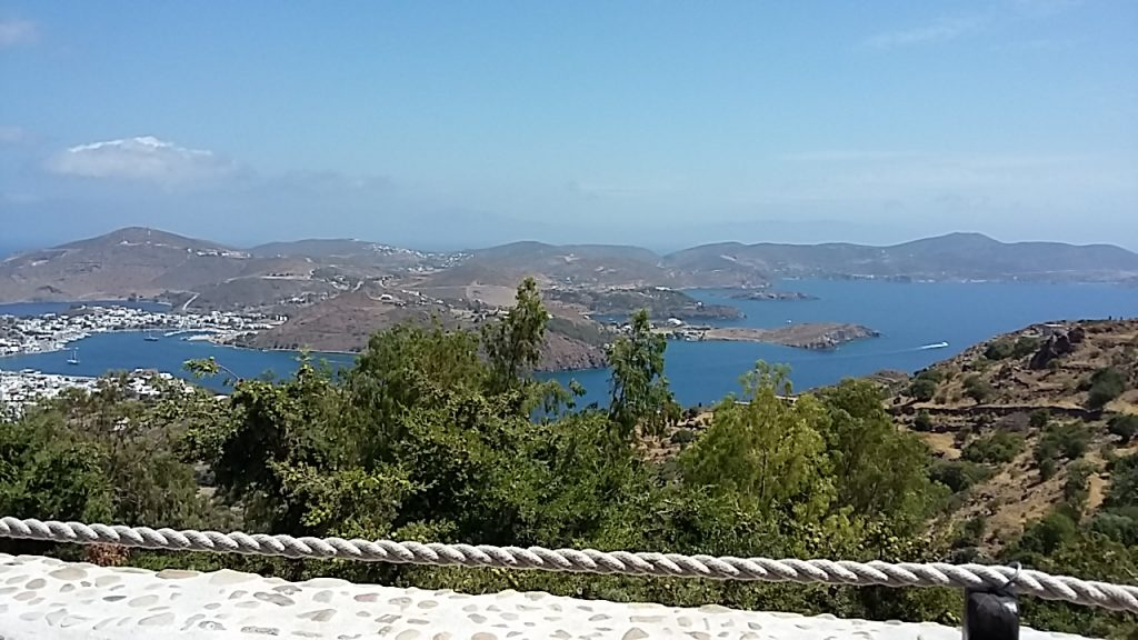Skala and the northern part of the island of Patmos