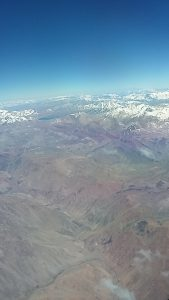 Andes between Brasil and Chile
