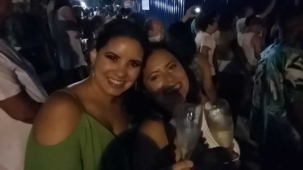 New Year 2019, Santos. Melina and Valeria