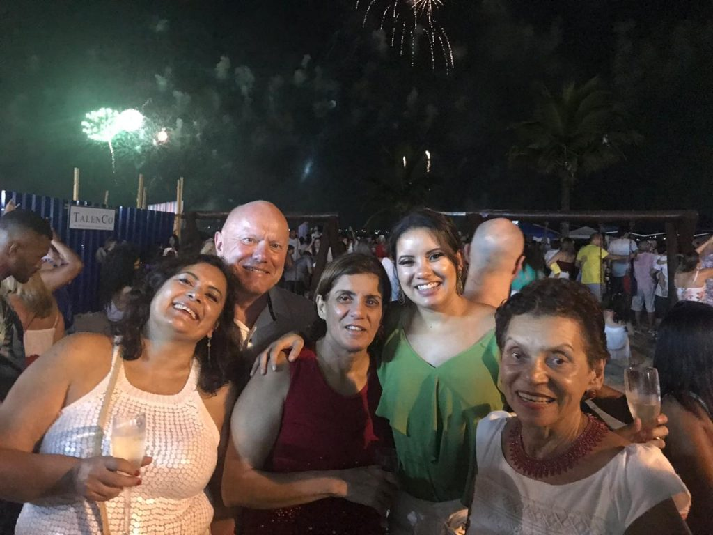 New Year 2019, Santos. Valeria, me, Katia, Mel and Ermida