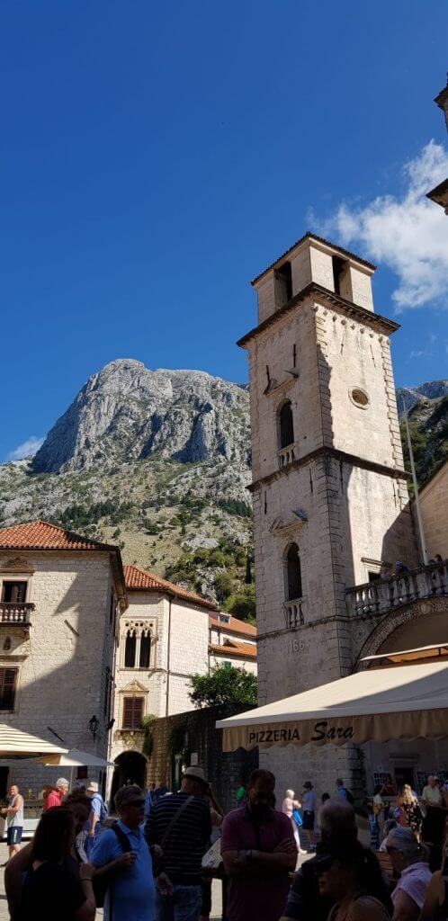 St Tryphon's against the mountains