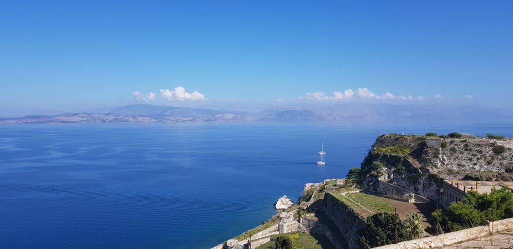 Albania from Corfu Old Fortress