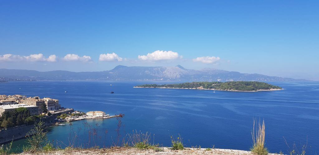 View north from Corfu Old Fort